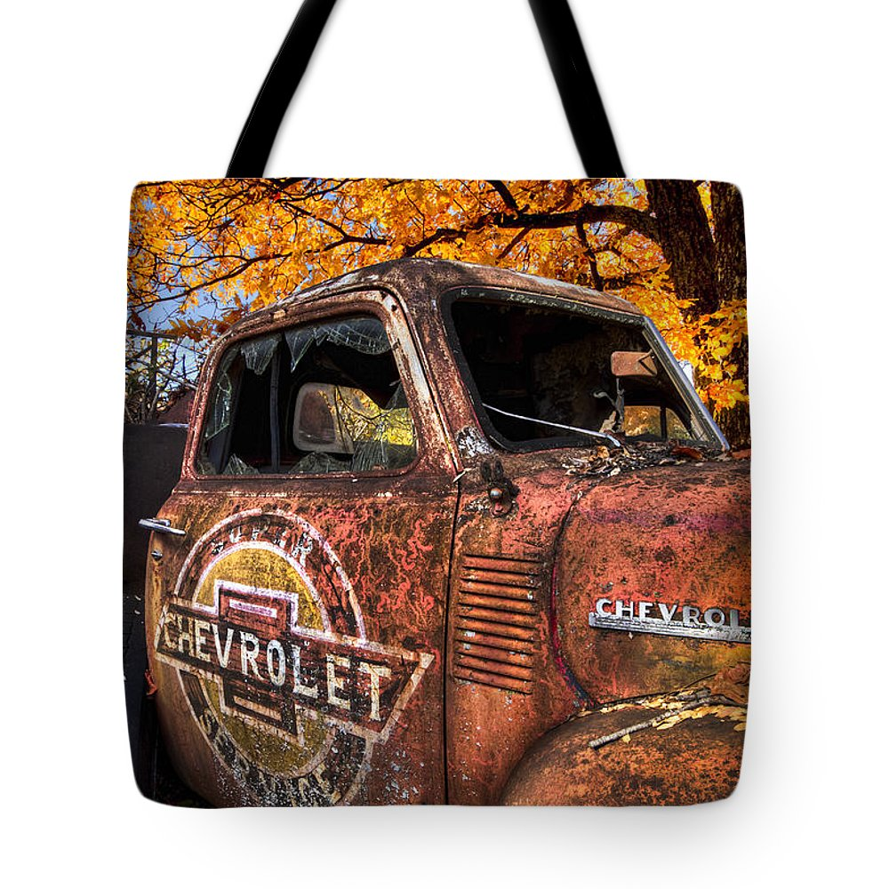 American Tote Bag featuring the photograph Chevrolet Usa by Debra and Dave Vanderlaan