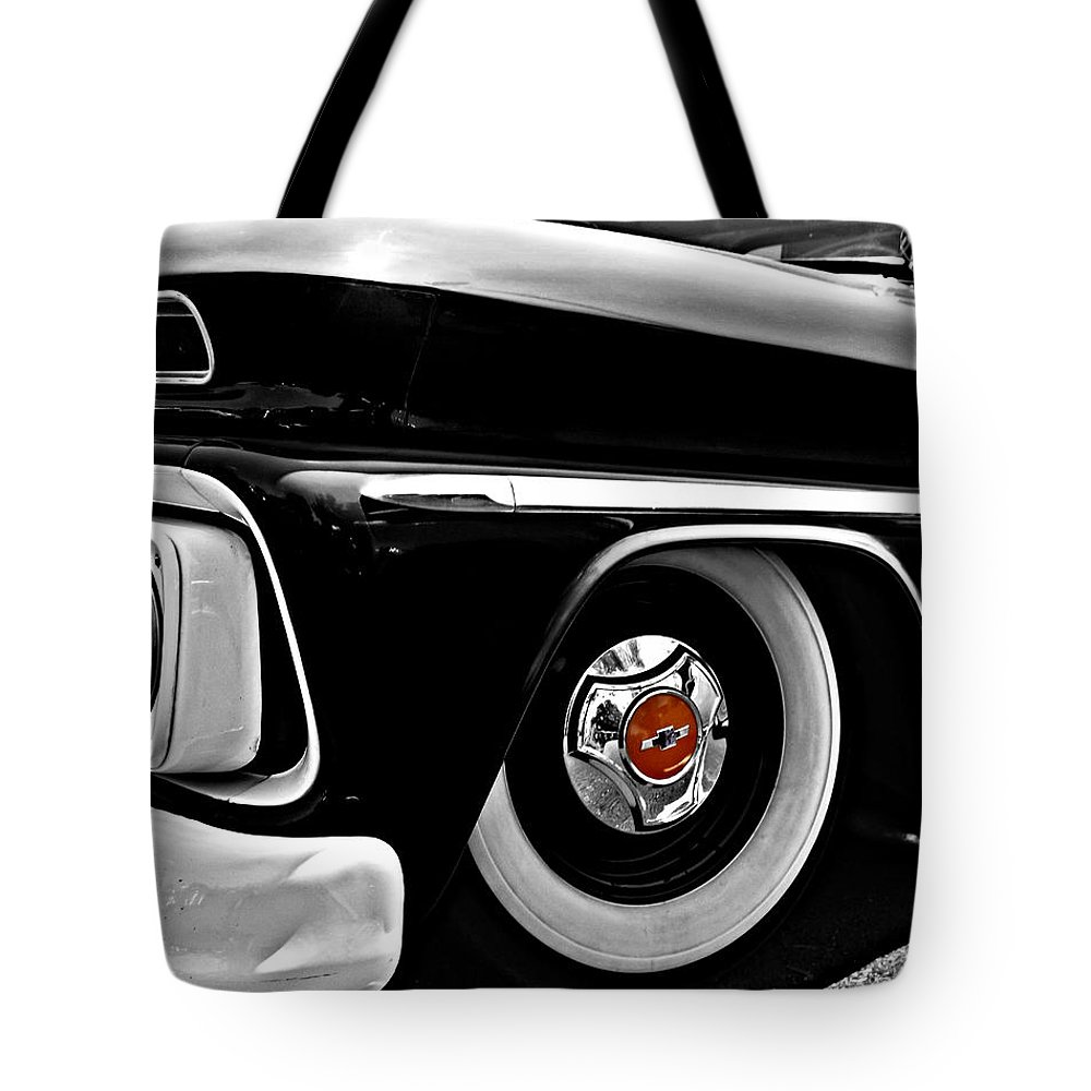 Chevy Tote Bag featuring the photograph Chevy Truckin by Kristie Bonnewell