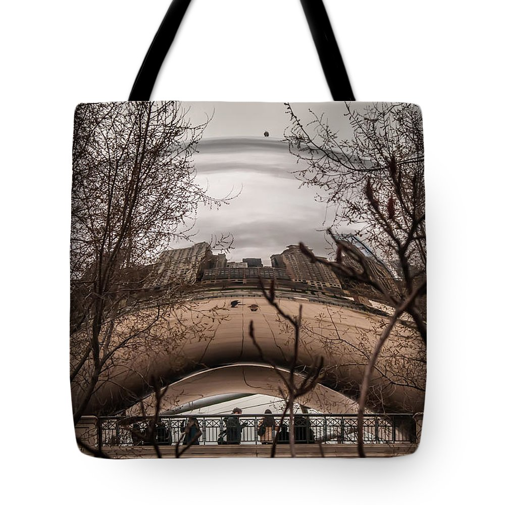 Architecture Tote Bag featuring the photograph Chicago Architecture by Alex Grichenko