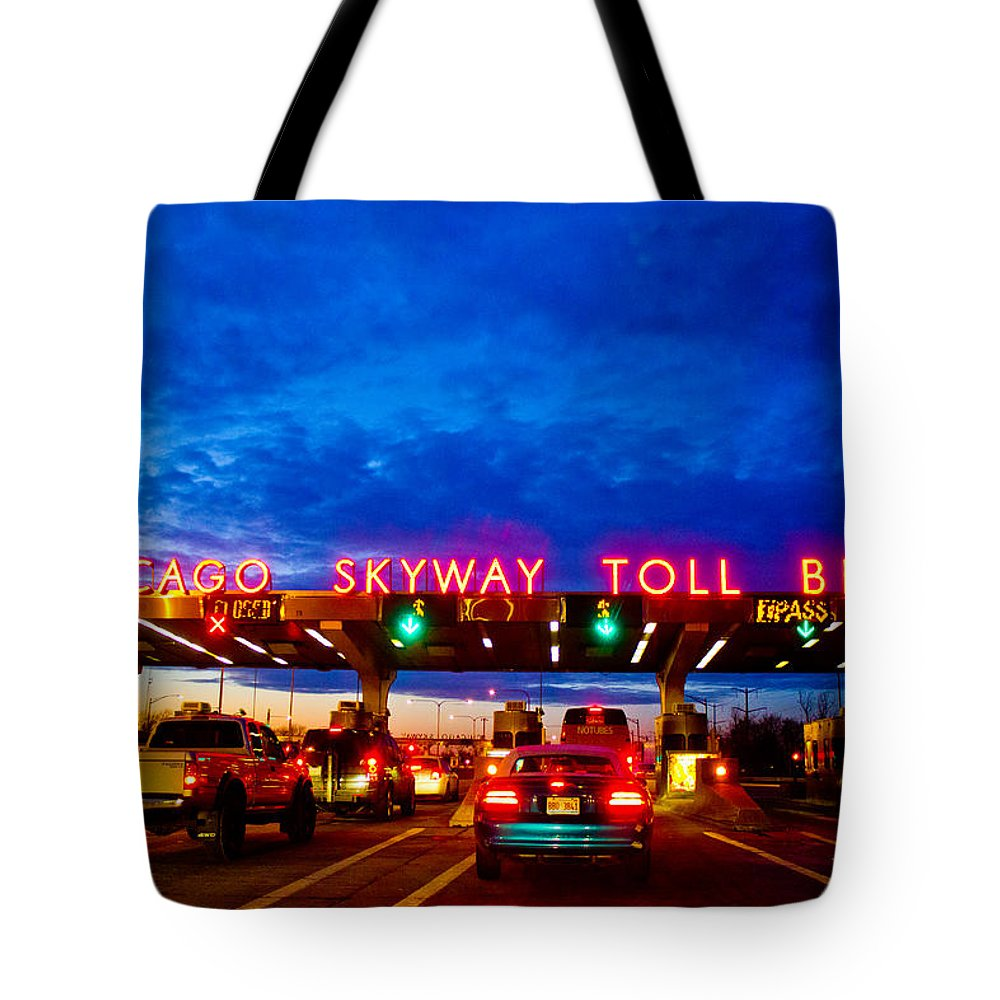Chicago Tote Bag featuring the photograph Chicago Skyway Toll Bridge by John McGraw