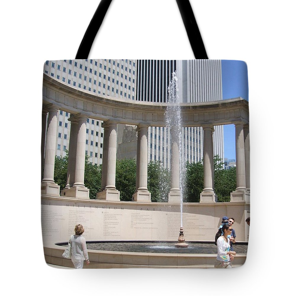 Chicago Tote Bag featuring the photograph Chicago Tourism by Minding My Visions by Adri and Ray