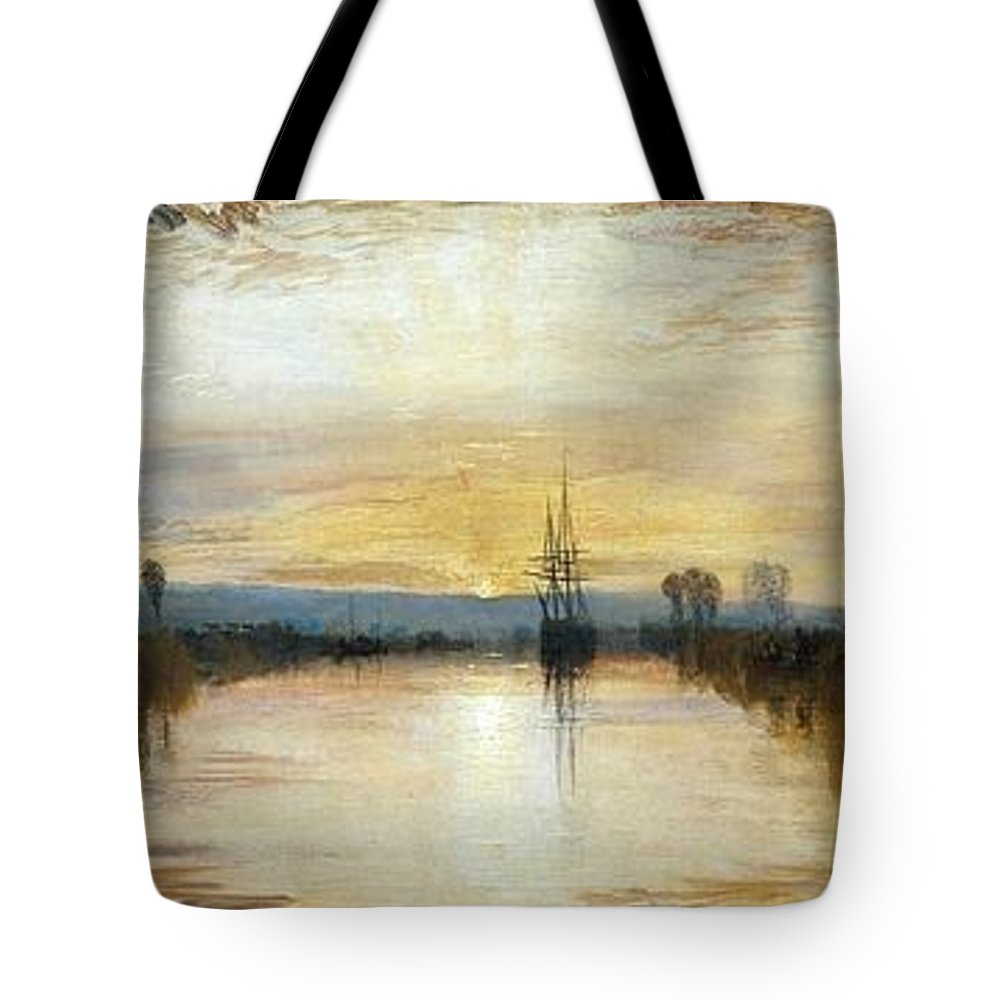 1828 Tote Bag featuring the painting Chichester Canal by JMW Turner