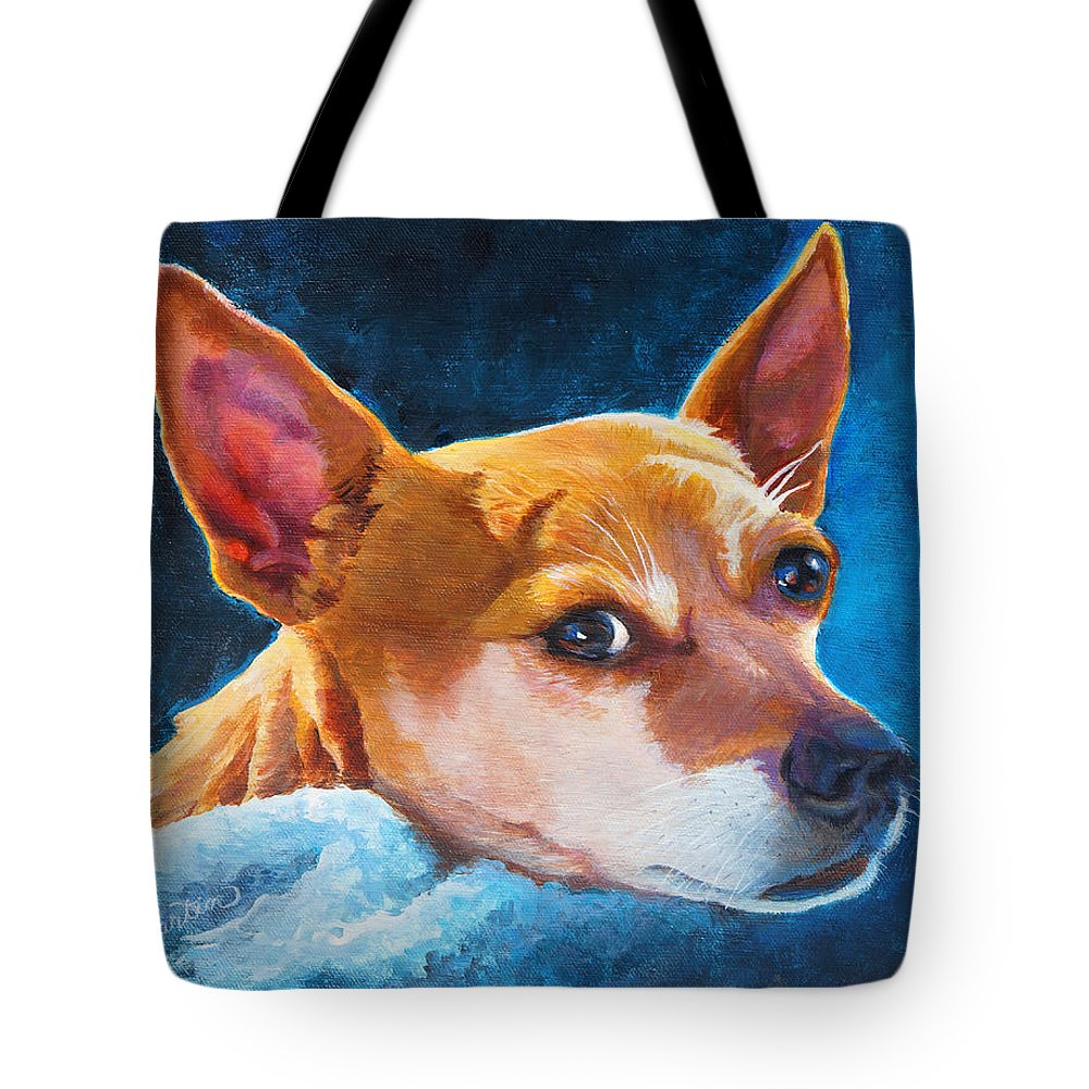 Chihuahua Tote Bag featuring the painting Chihuahua Baby by Beverly Martin
