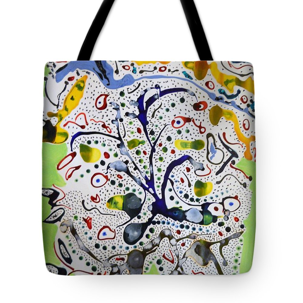 Abstract Impressionism Tote Bag featuring the painting Childlike Innocence by Fatiha Boudar