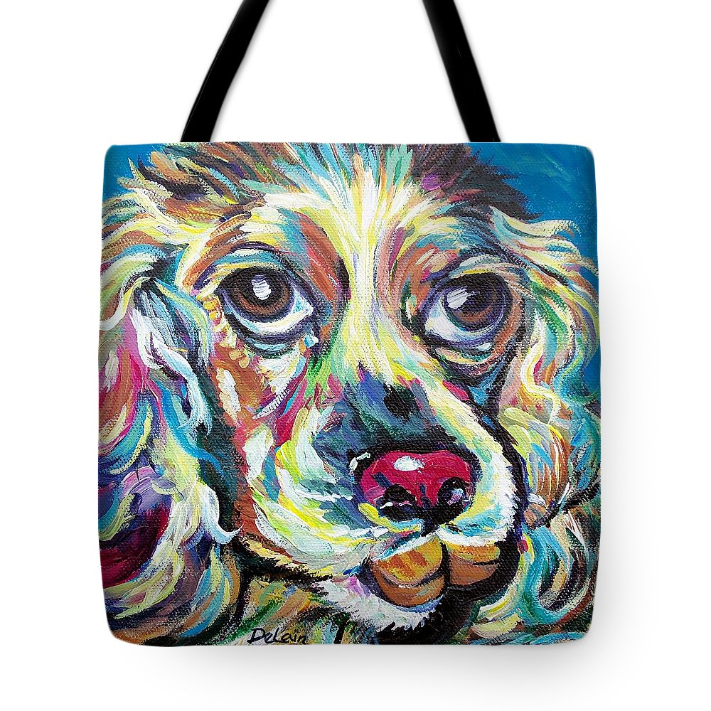 Sue Delain Tote Bag featuring the painting Chili Dog by Susan DeLain