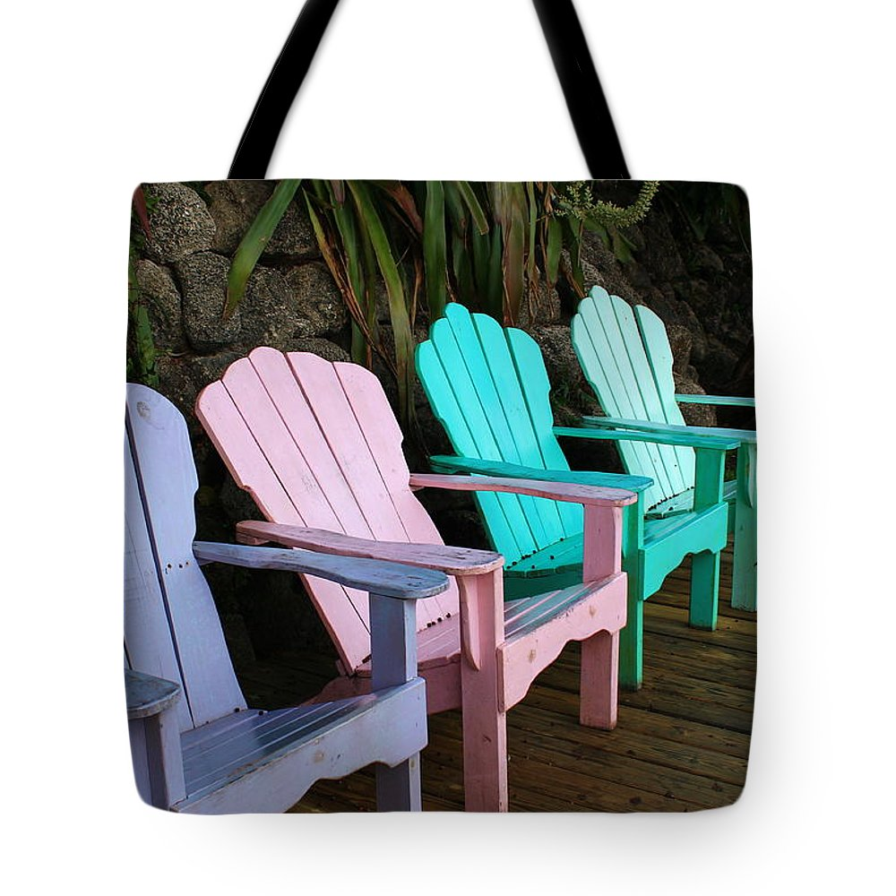 Purple Tote Bag featuring the photograph Chill Out by Catie Canetti
