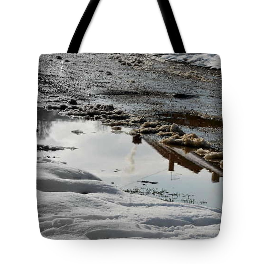 Passing By Tote Bag featuring the photograph Chimneys by Marija Djedovic