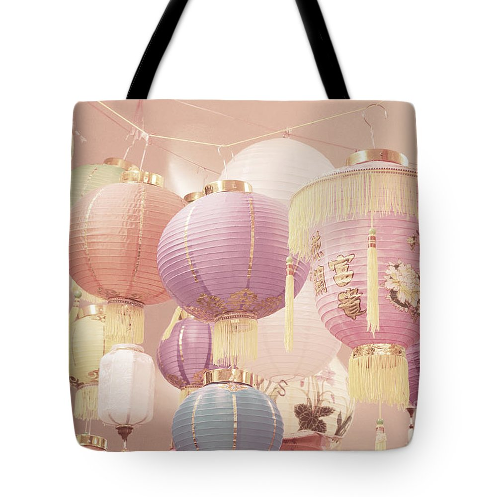 Romantic Tote Bag featuring the photograph Chinese Lanterns by Cindy Garber Iverson