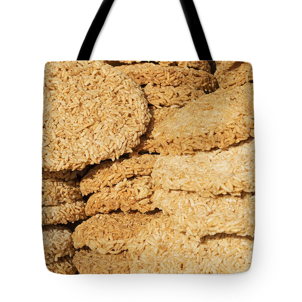 Asia Tote Bag featuring the photograph Chinese Rice Cakes by Jacek Malipan