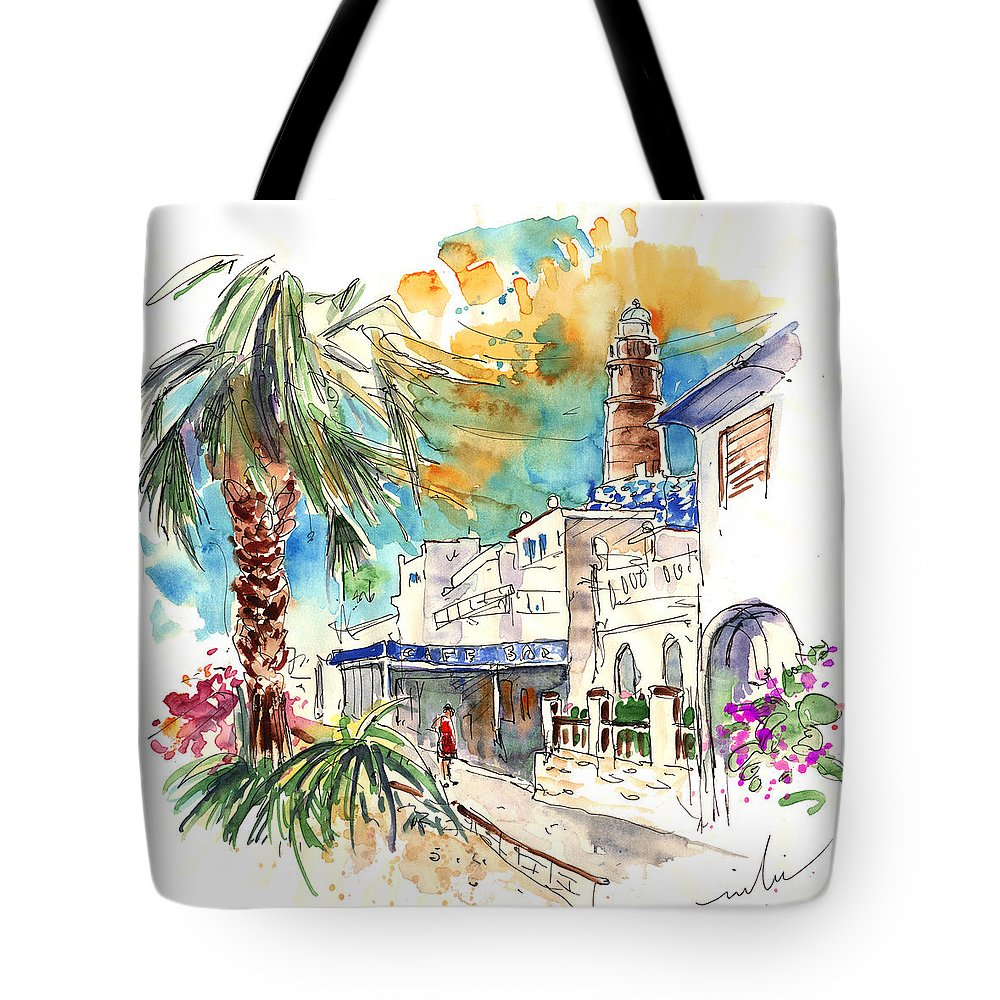 Travel Tote Bag featuring the painting Chipiona Spain 05 by Miki De Goodaboom