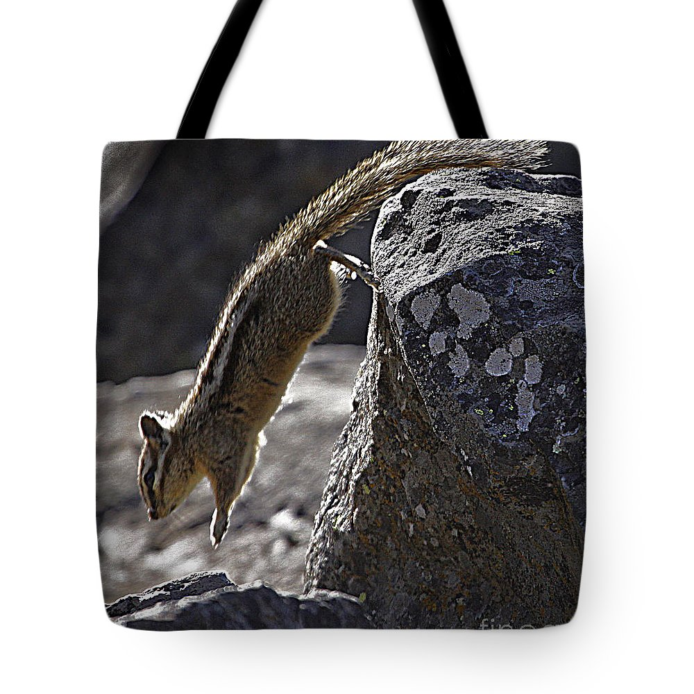 Chipmunk Tote Bag featuring the photograph Chipmunk  #2155 by J L Woody Wooden