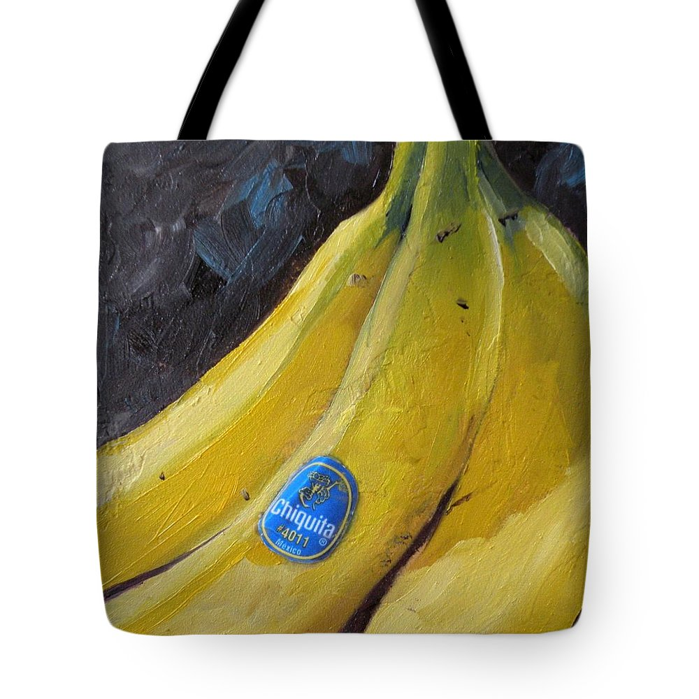 Bananas Tote Bag featuring the painting Chiquita by Saundra Lane Galloway
