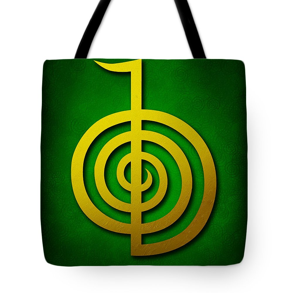 d8fe16fcc15bd2 Cho Ku Rei Tote Bag featuring the digital art Cho Ku Rei - Golden Yellow On