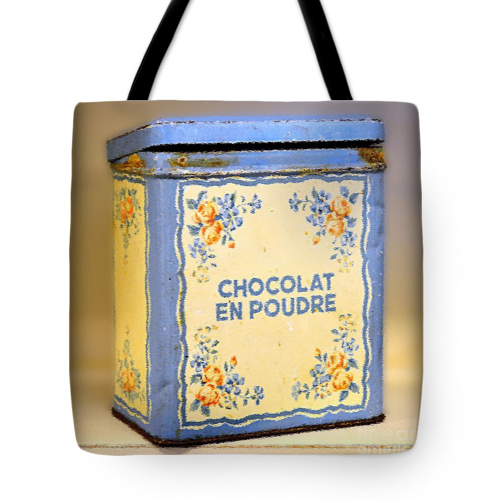 Chocolate Tote Bag featuring the photograph Chocolat En Poudre by Catherine Sherman