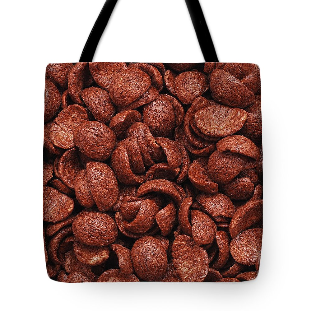 Flavor Tote Bag featuring the photograph Chocolate Cereals by Cristian M Vela