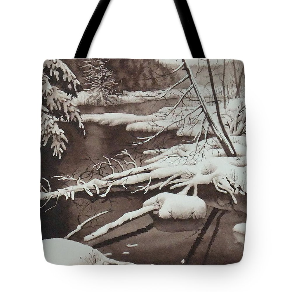 Watercolor Tote Bag featuring the painting Chocolate Dreams by Karen Richardson