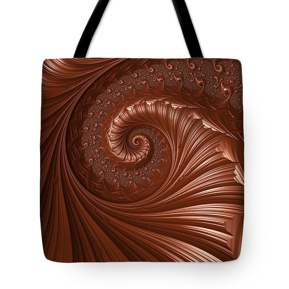 Background Tote Bag featuring the digital art Chocolate by Heidi Smith