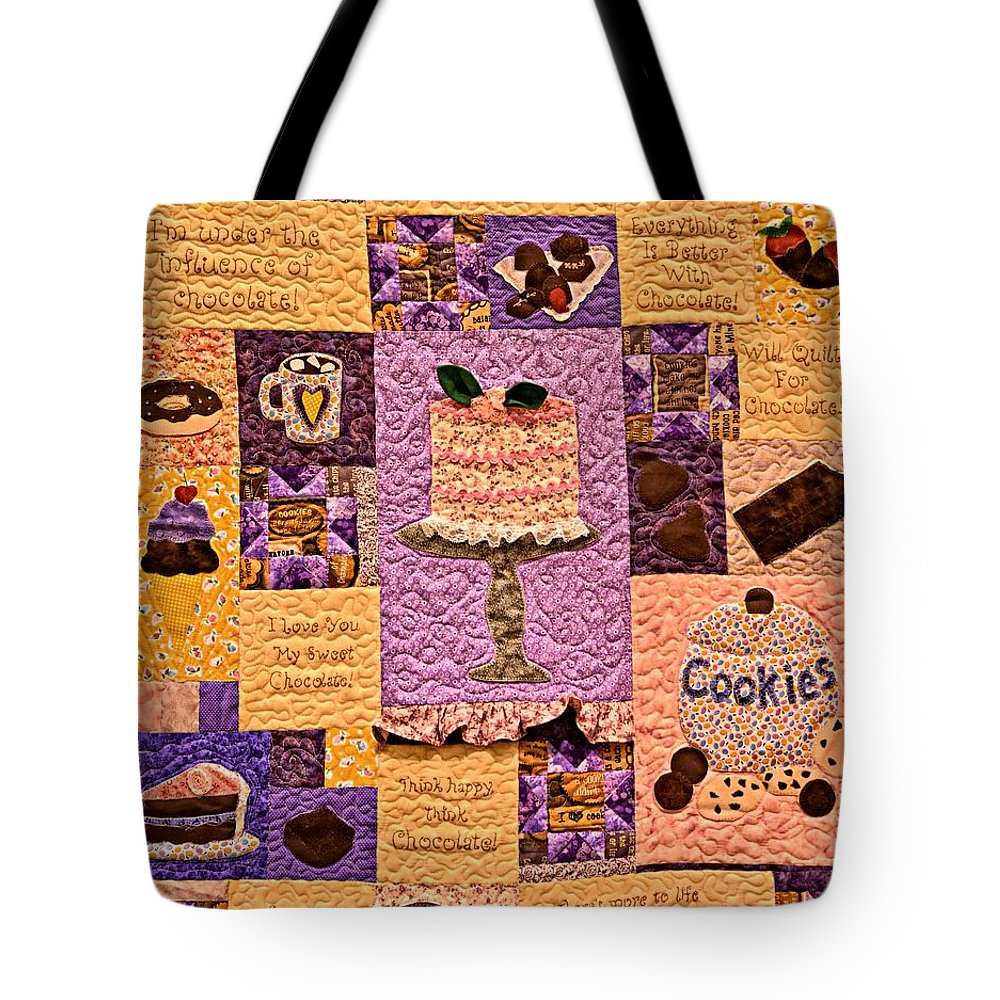 Idaho Falls Tote Bag featuring the photograph Chocolate Holiday by Image Takers Photography LLC