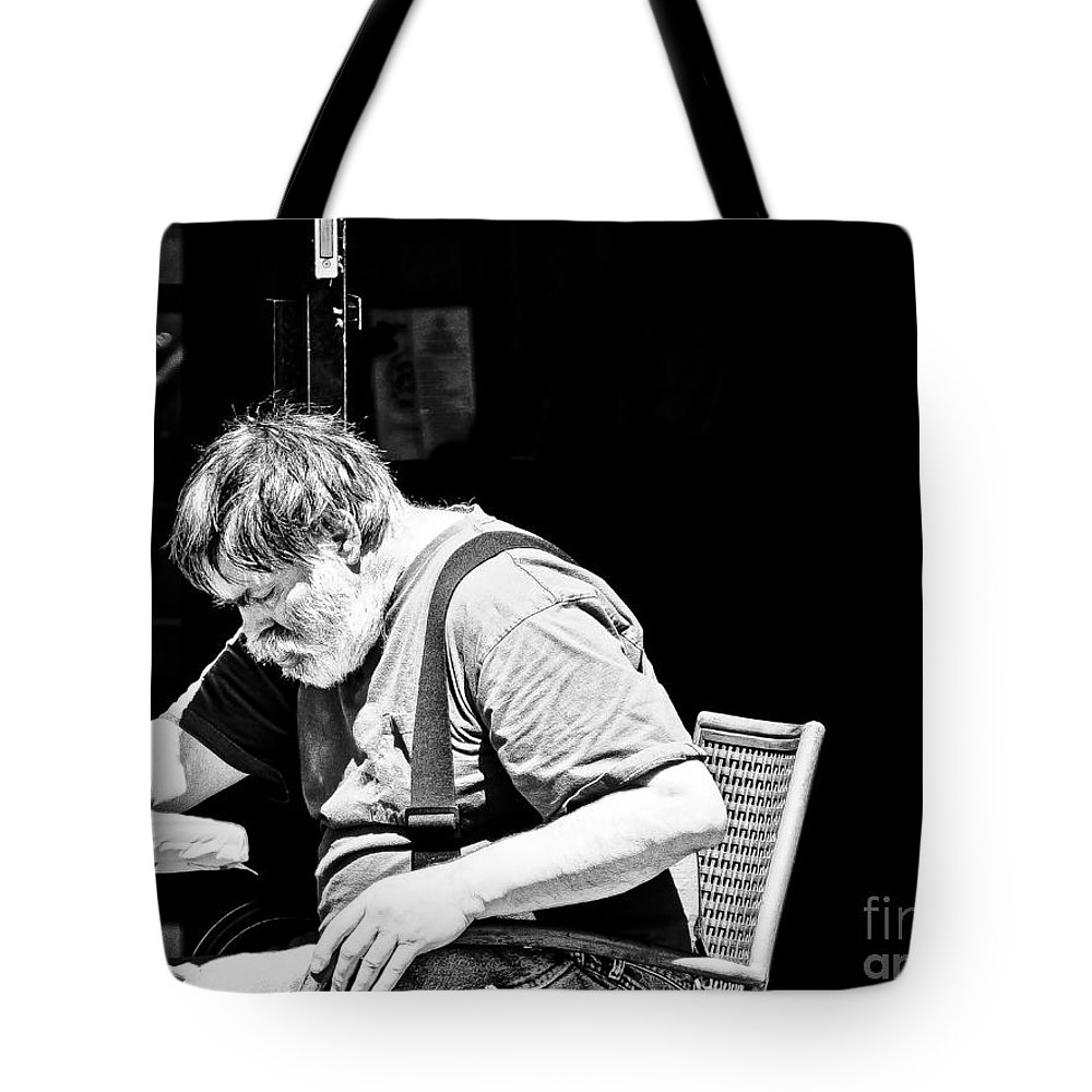 Black & White Tote Bag featuring the photograph Choices by David Fabian