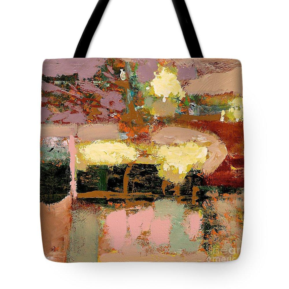 Landscape Tote Bag featuring the painting Chopped Liver by Allan P Friedlander