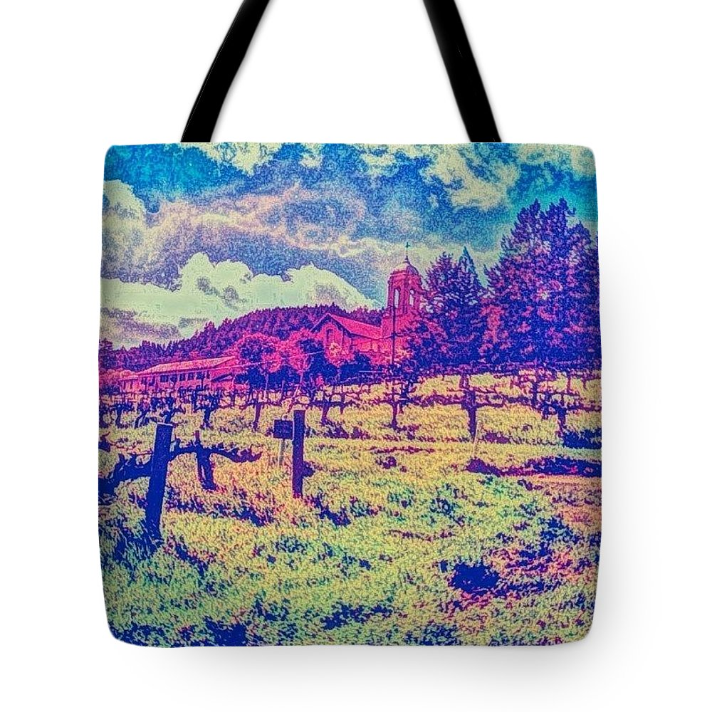 Art Tote Bag featuring the photograph Christian Brothers Winery - Napa, Ca by Anna Porter