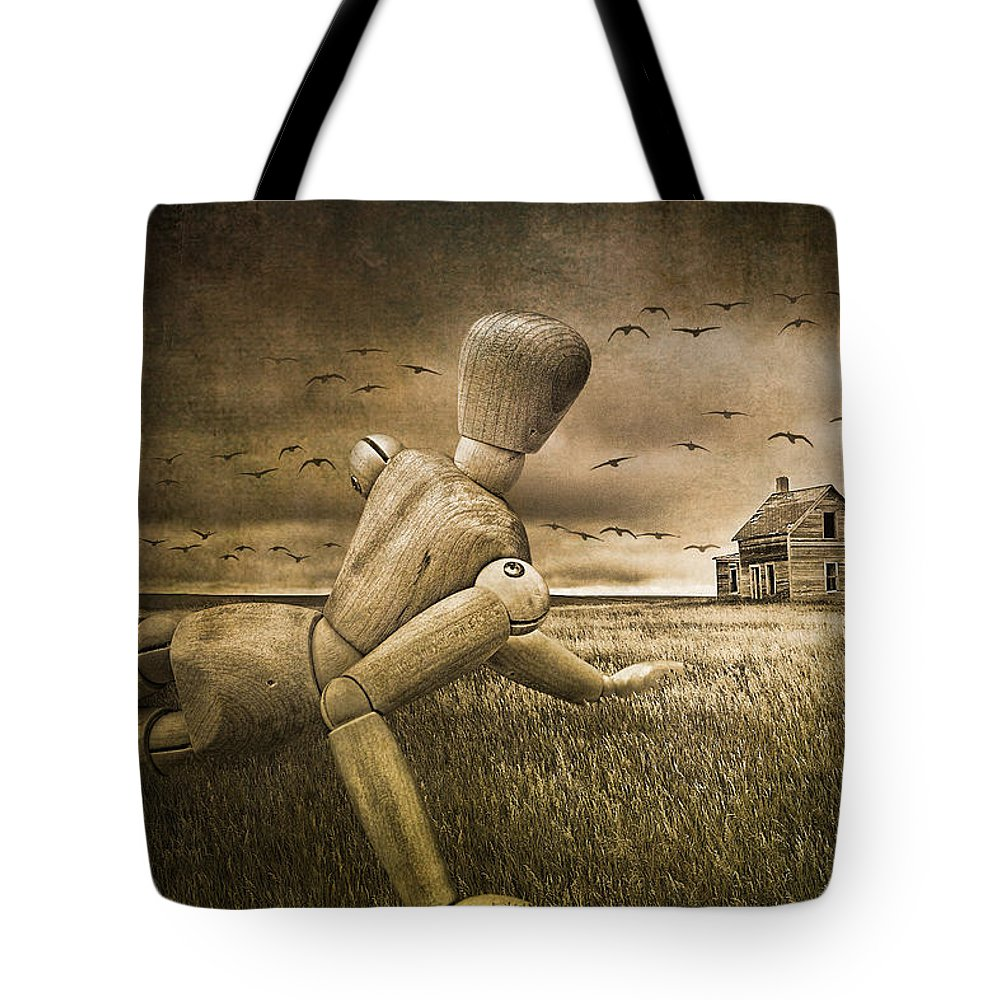 Christina's World Revisited Tote Bag featuring the photograph Christina's World Revisited by Randall Nyhof