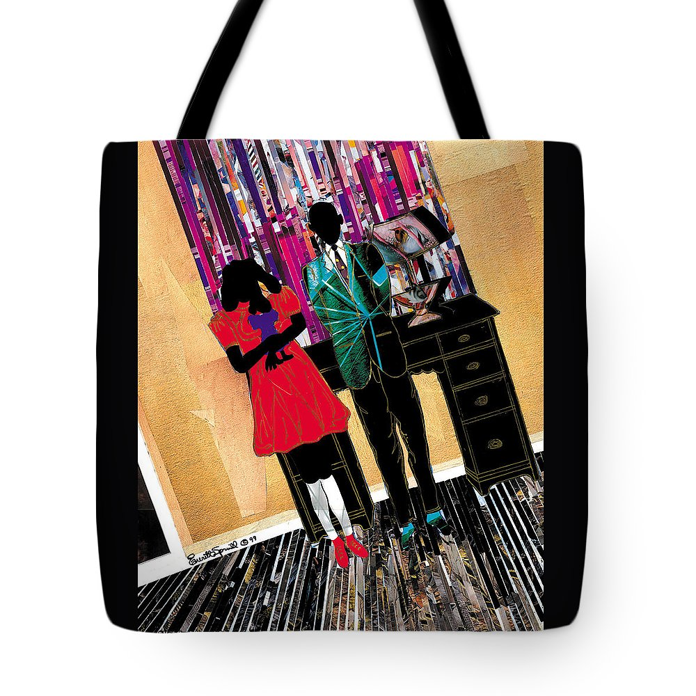 Everett Spruill Tote Bag featuring the painting Me and Carol by Everett Spruill