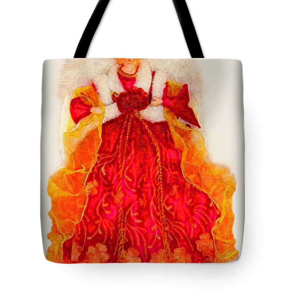Angle Tote Bag featuring the photograph Christmas Angle Card by Debbie Portwood