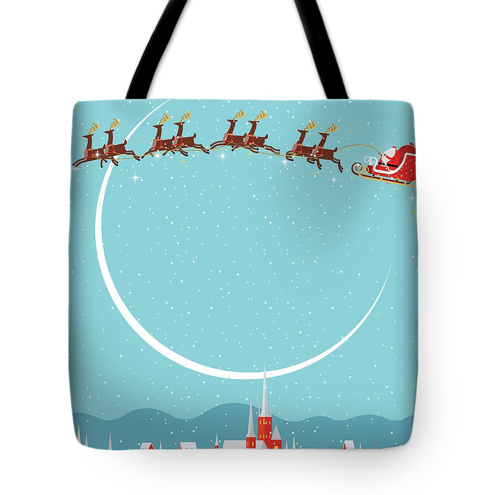 Holiday Tote Bag featuring the digital art Christmas Background by Akindo