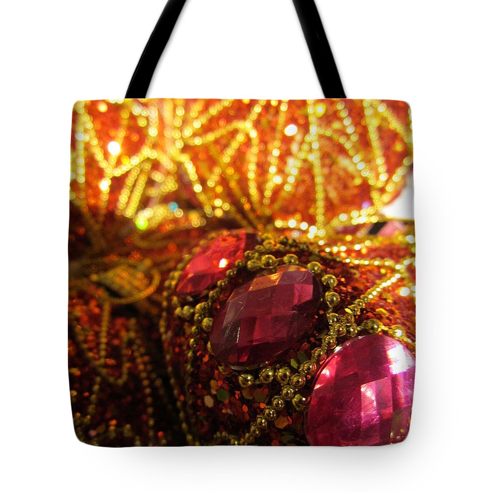 Christmas Tote Bag featuring the photograph Christmas Blingbling by Rosita Larsson