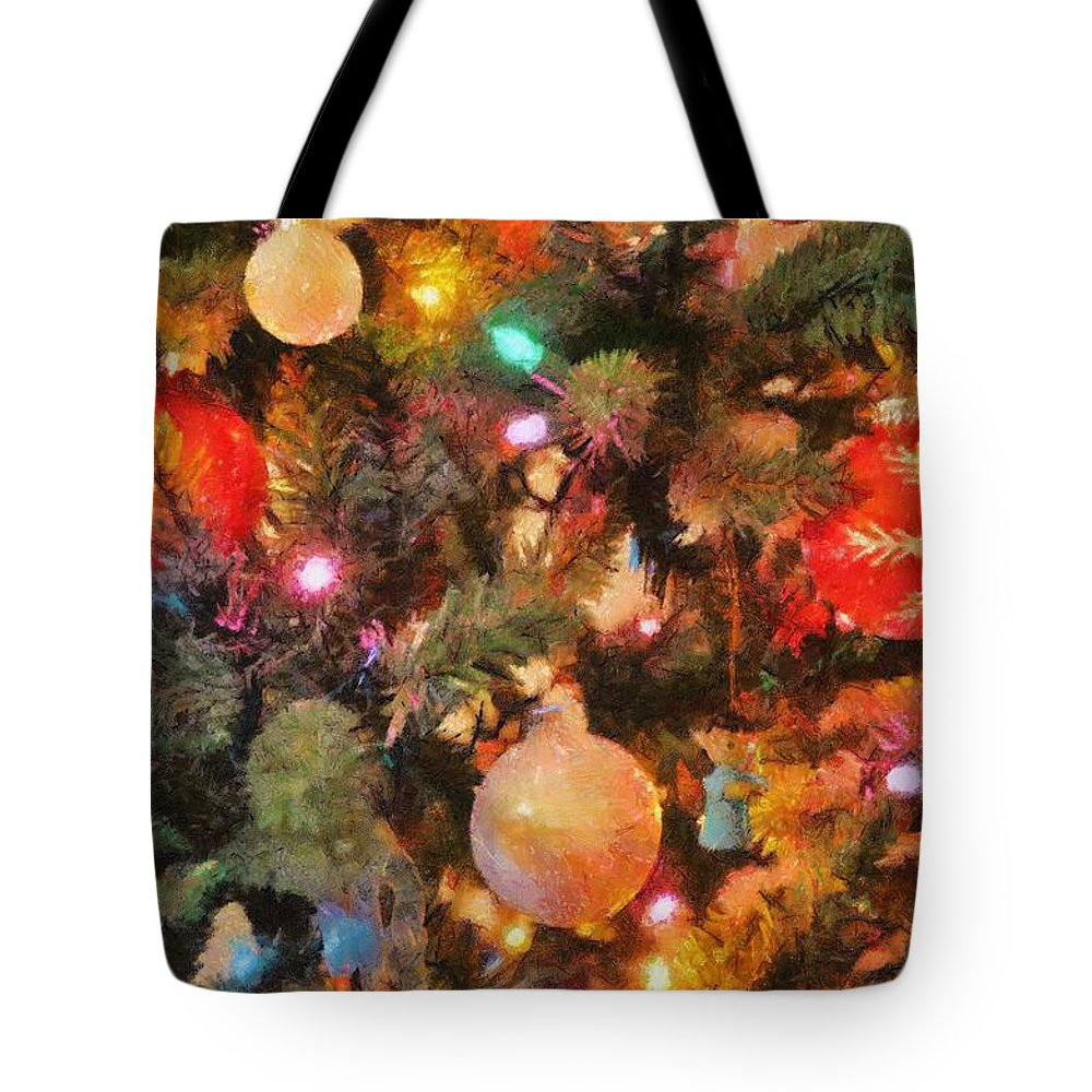 Angel Tote Bag featuring the painting Christmas Branches by Jeffrey Kolker