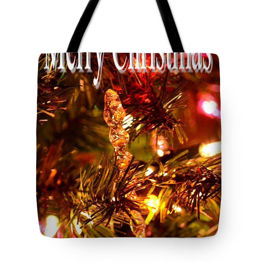 Christmas Card 1 Tote Bag featuring the digital art Christmas Card 1 by Maria Urso
