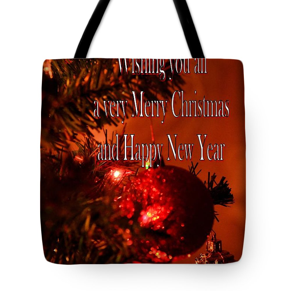 Christmas Card 4 Tote Bag featuring the digital art Christmas Card 4 by Maria Urso