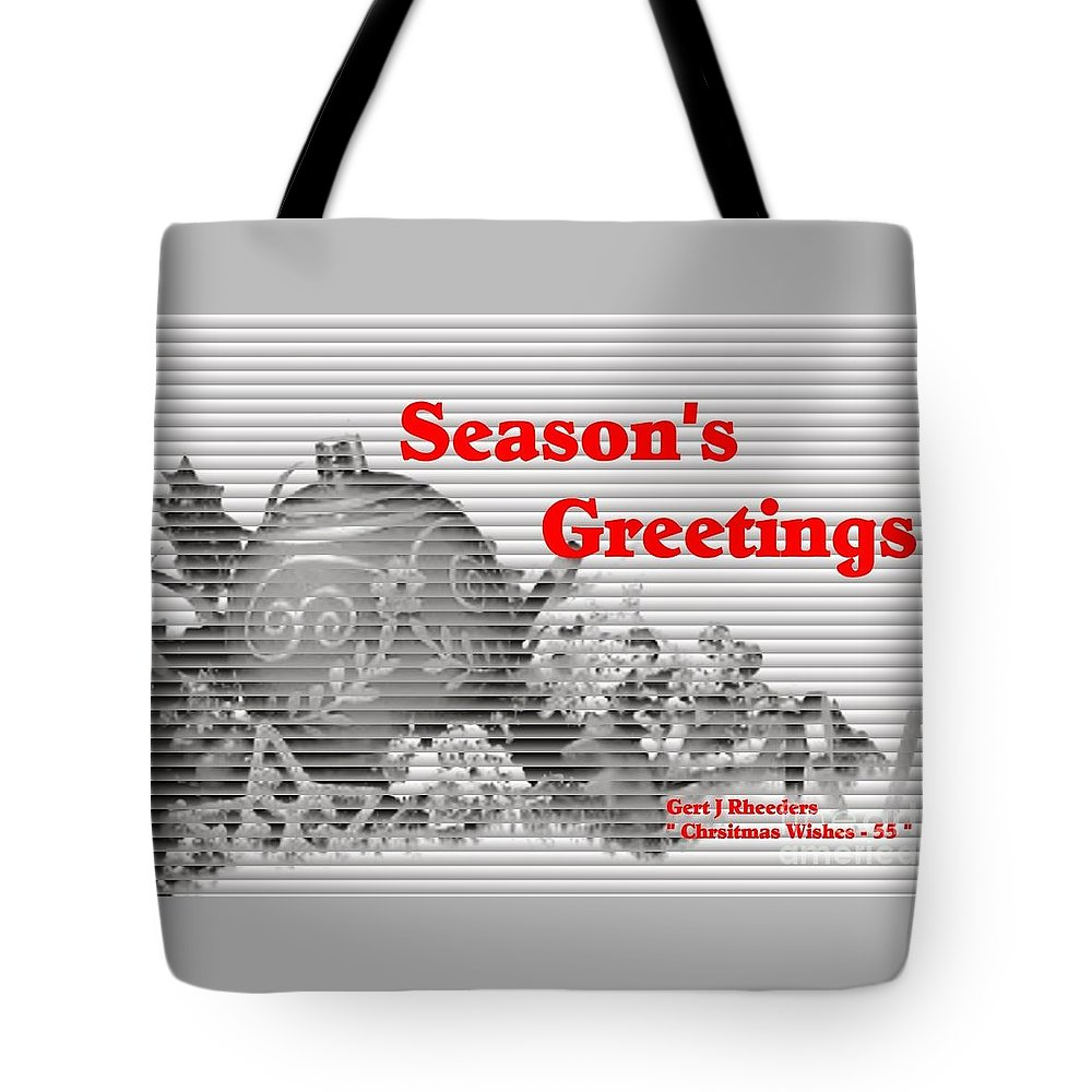 Modern Tote Bag featuring the painting Christmas Cards And Artwork Christmas Wishes 55 by Gert J Rheeders