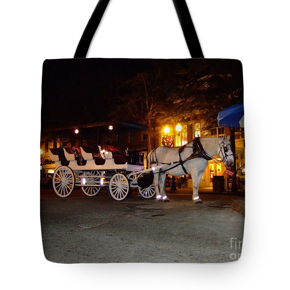 Christmas Tote Bag featuring the photograph Christmas Carriage by Bob Sample