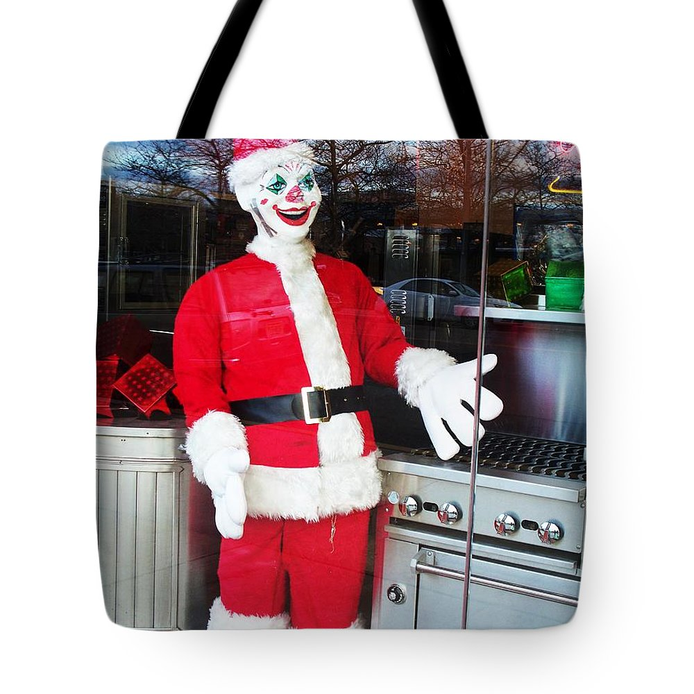 Christmas Tote Bag featuring the photograph Christmas Clown by Eric Schiabor