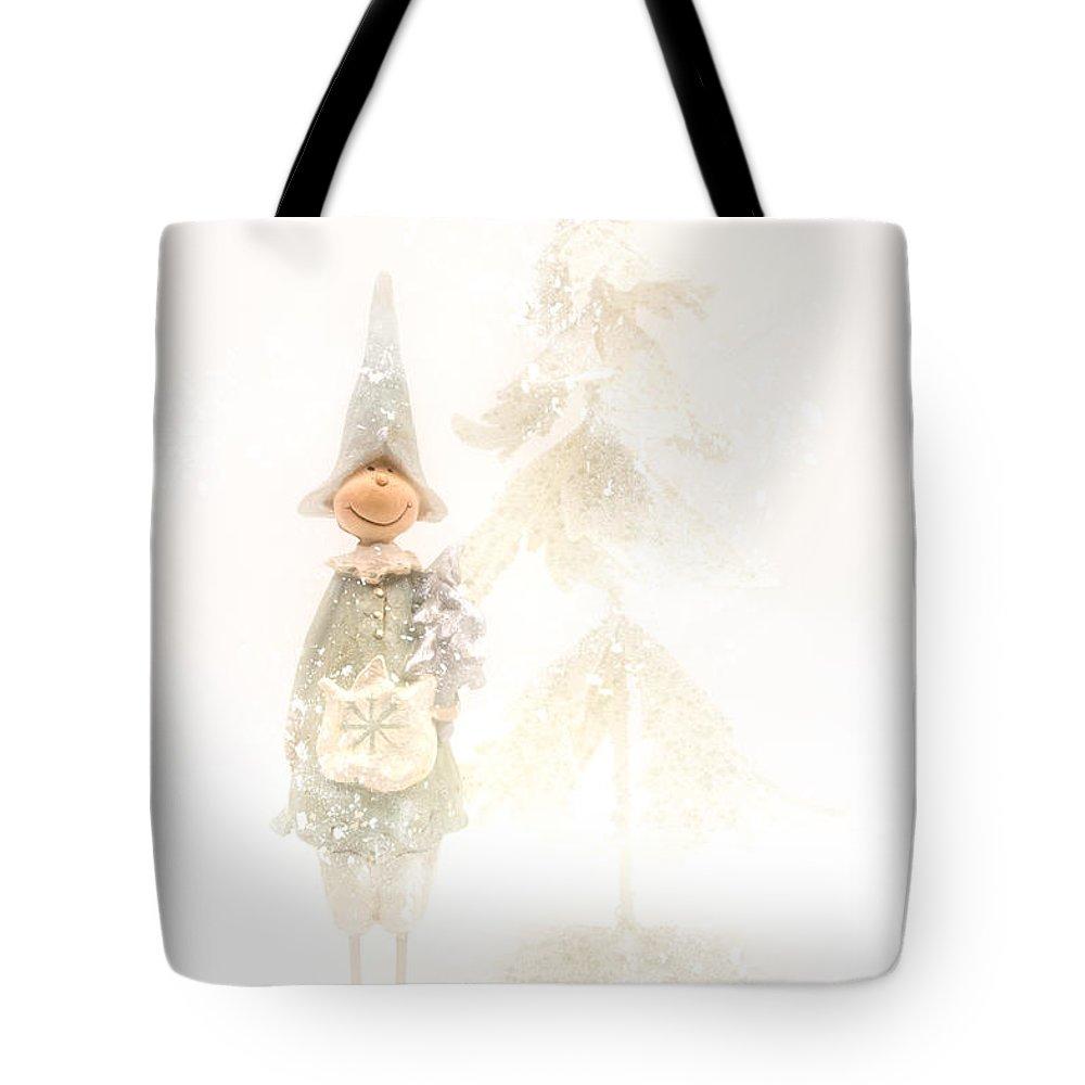 Christmas Tote Bag featuring the photograph Christmas Elf by Ann Garrett