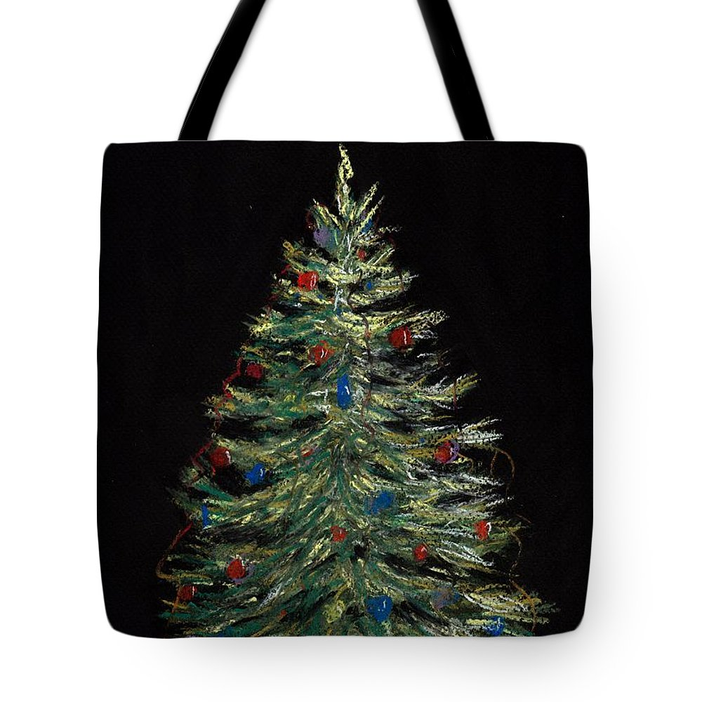 Single Tote Bag featuring the painting Christmas Eve by Anastasiya Malakhova