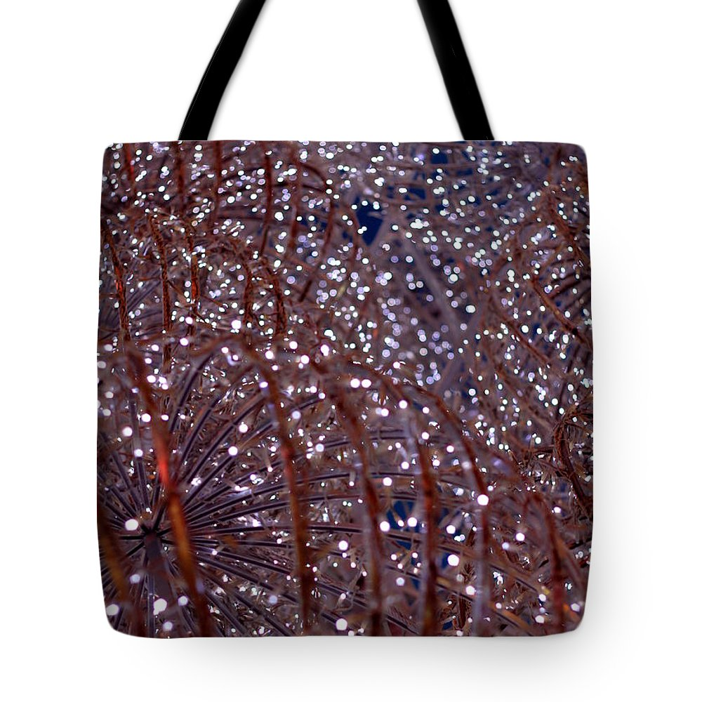 Holiday Tote Bag featuring the photograph Christmas Lights by Valentino Visentini