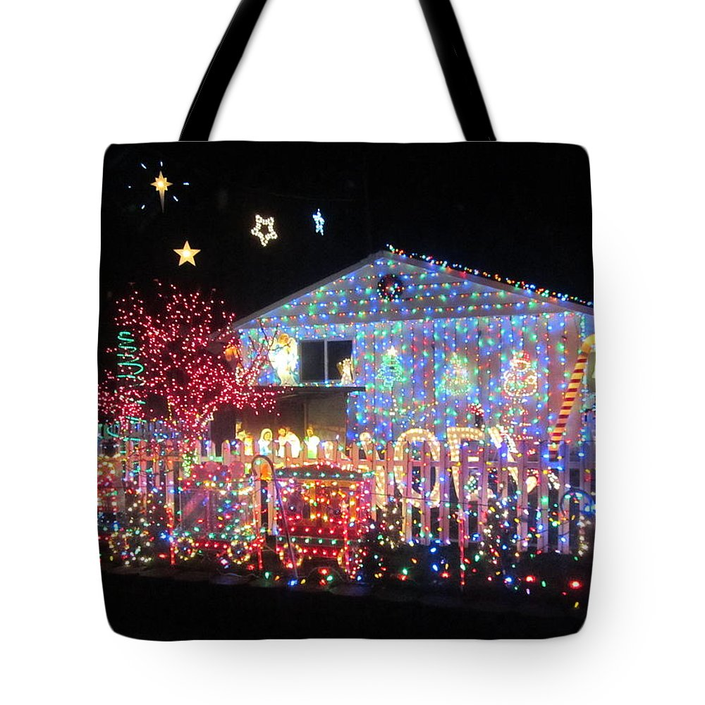 Christmas Decoration Tote Bag featuring the photograph Illumination by Kazumi Whitemoon