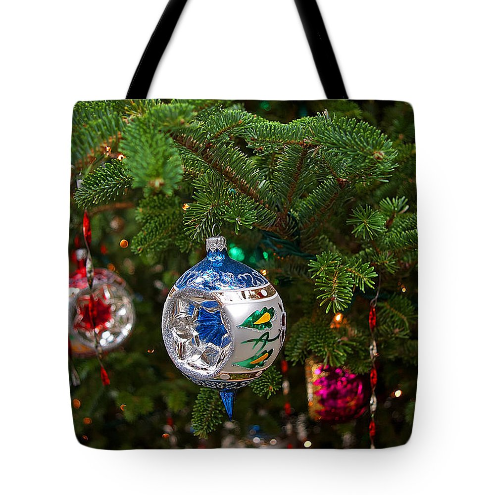 Christmas Tote Bag featuring the photograph Christmas Bling #6 by Rich Walter