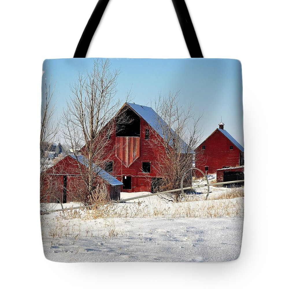 Idaho Falls Tote Bag featuring the photograph Christmas Time In Idaho Falls by Image Takers Photography LLC - Laura Morgan
