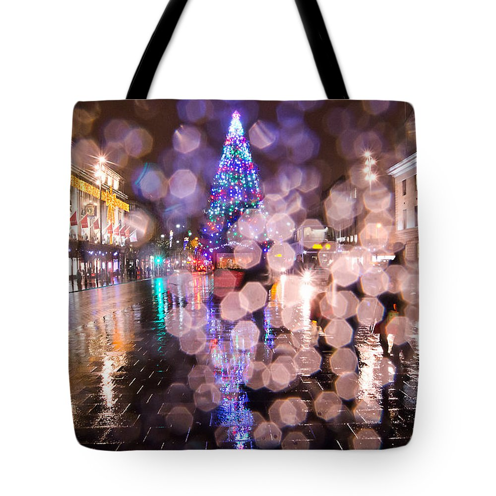 Christmas Tote Bag featuring the photograph Christmas Tree by Alex Art and Photo