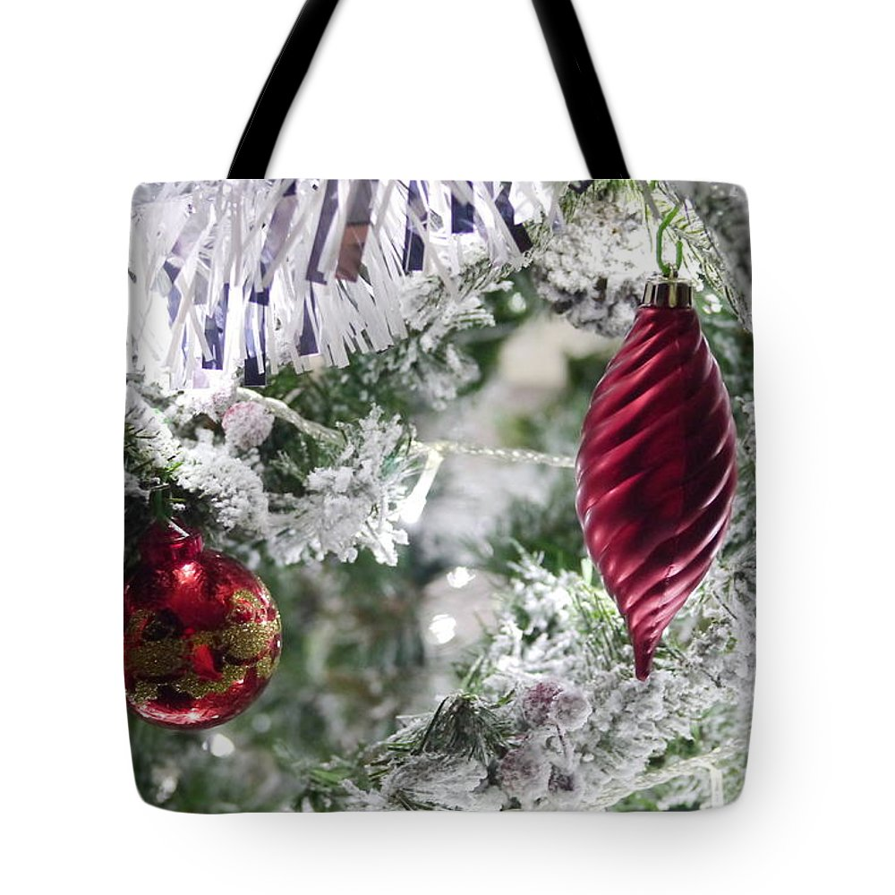 Christmas Tote Bag featuring the photograph Christmas Tree Baubles by John Chatterley