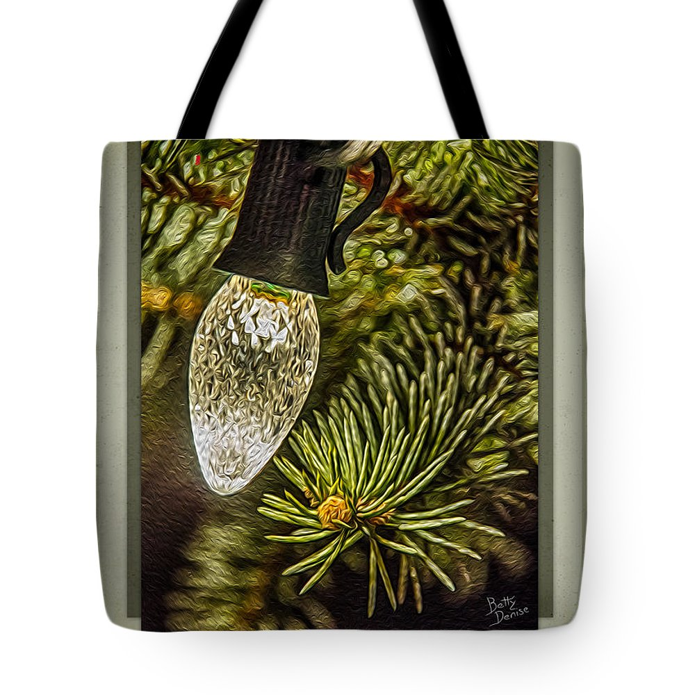 Christmas Tote Bag featuring the photograph Christmas Tree Light by Betty Denise