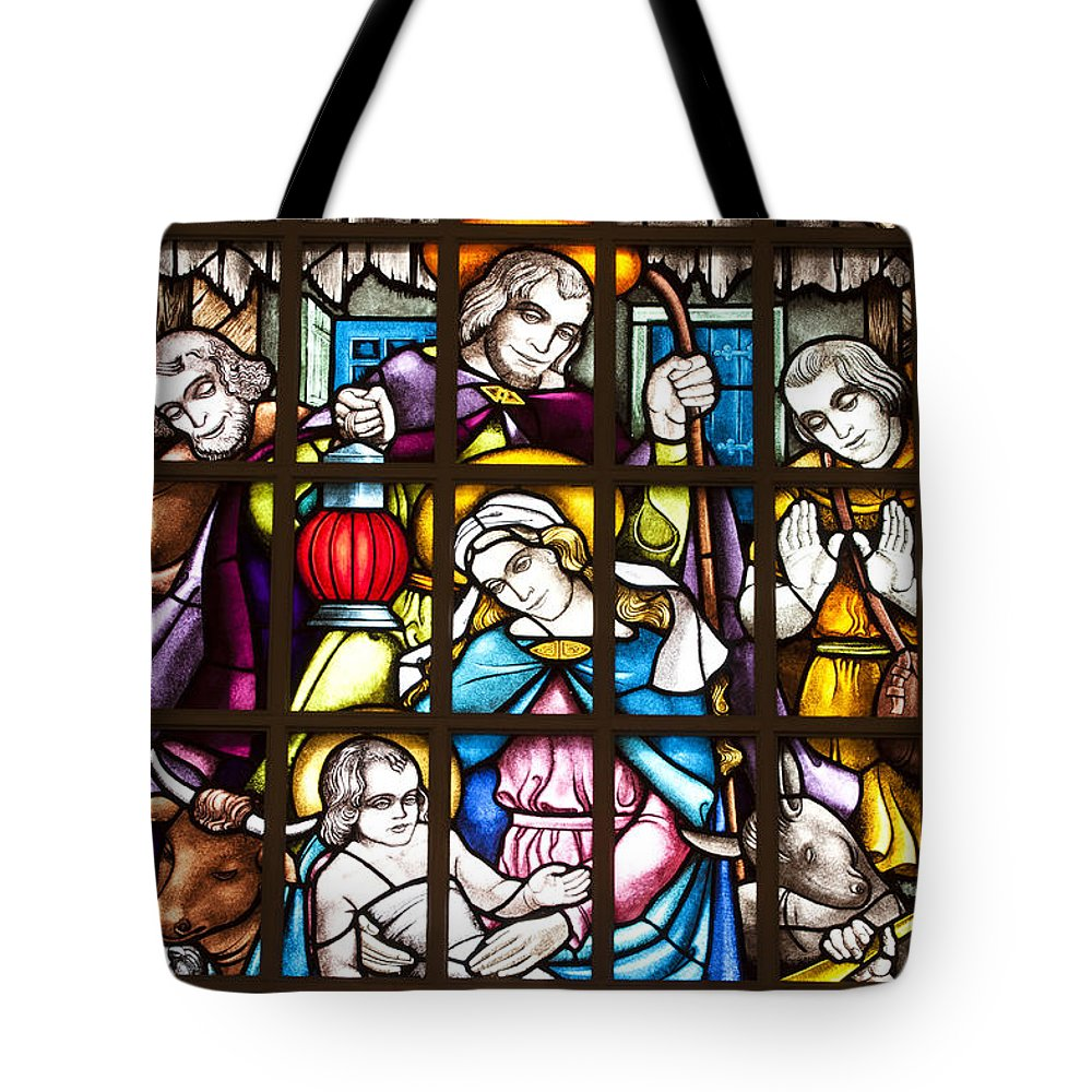Christmas Tote Bag featuring the photograph Christmas Window by Patty Colabuono