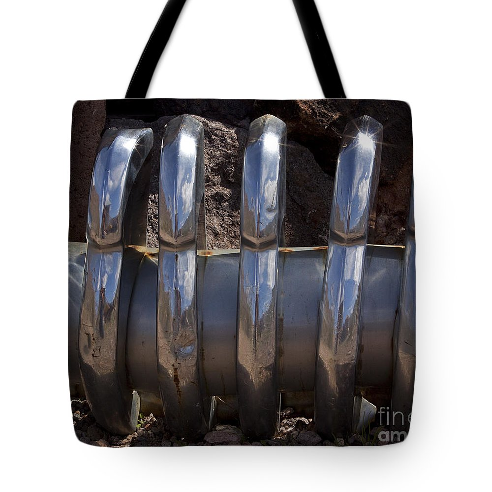 Car Tote Bag featuring the photograph Chrome Teeth  #0958 by J L Woody Wooden