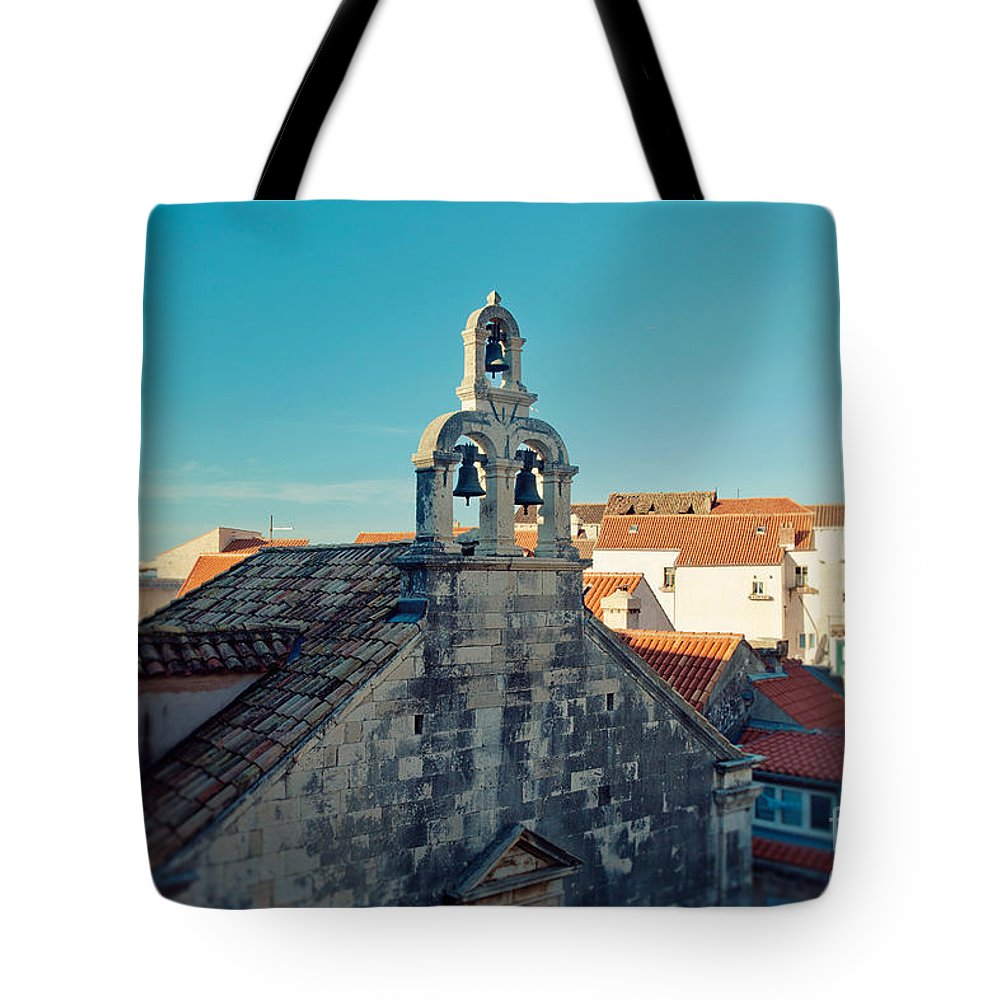Dubrovnik Tote Bag featuring the photograph Church Bells by Erin Johnson