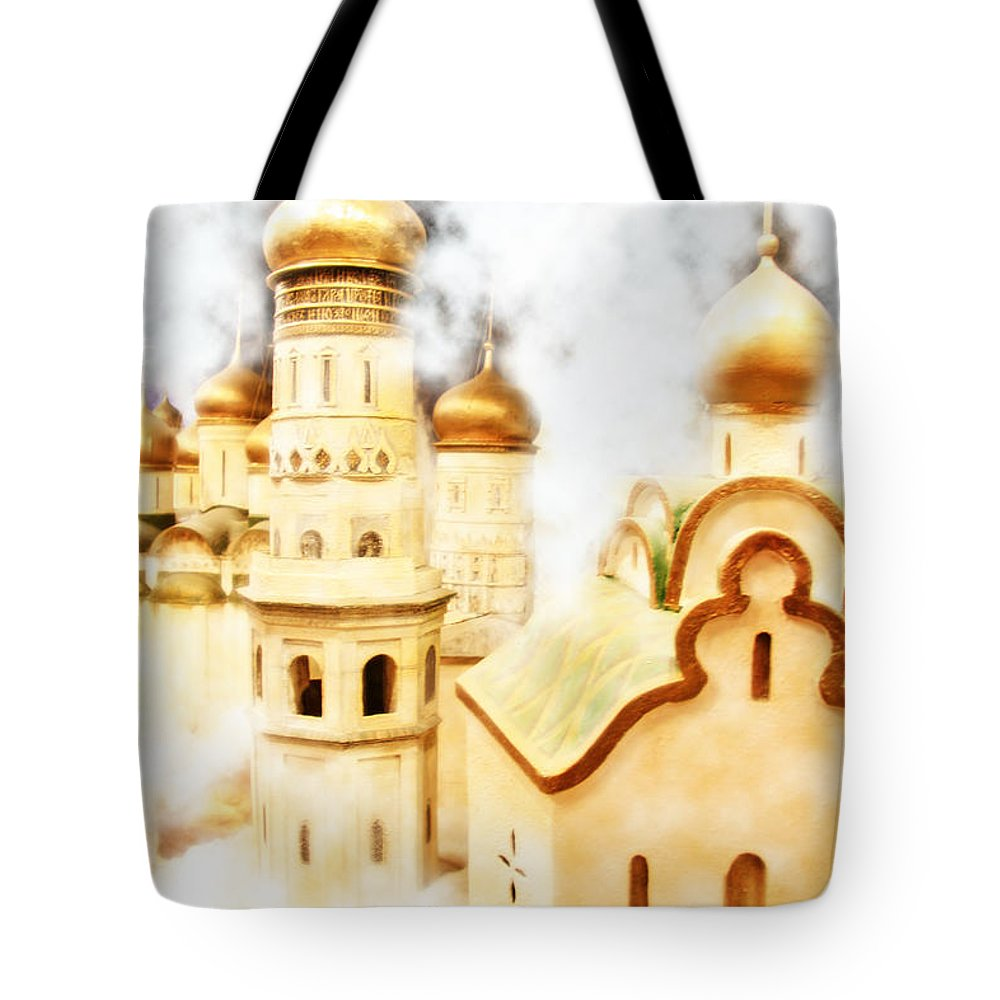 Orthodoxy Tote Bag featuring the photograph Church Complex by Lali Kacharava