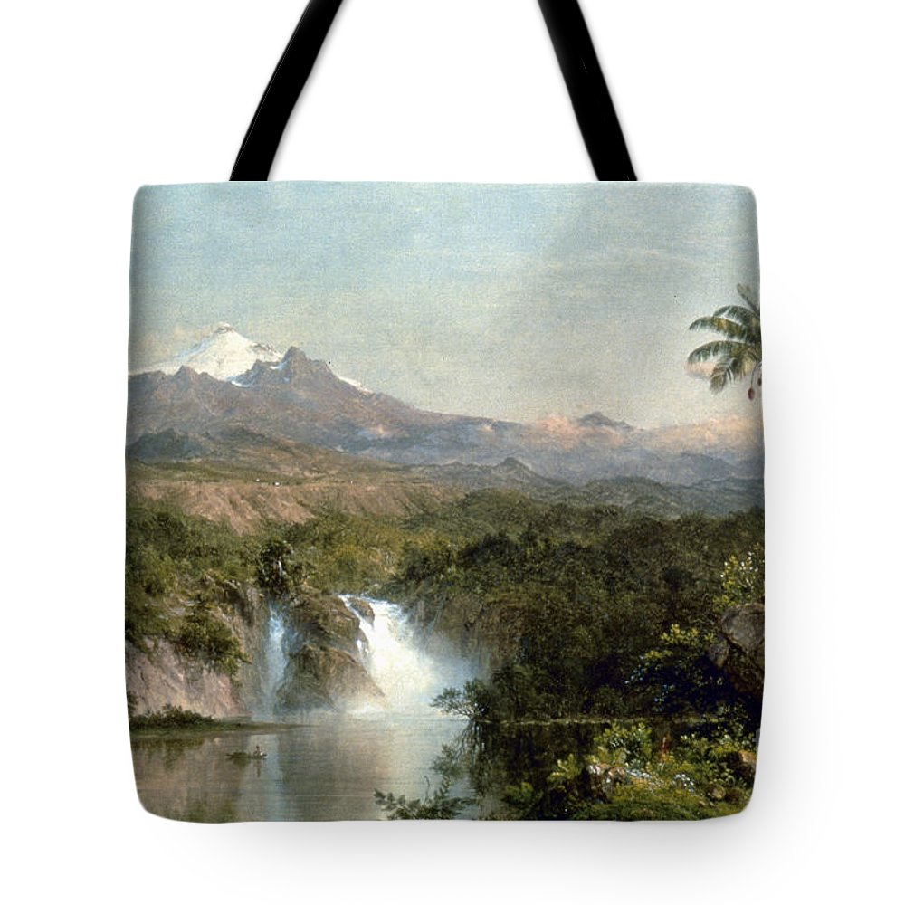 1857 Tote Bag featuring the photograph Church: Cotopaxi, 1857 by Granger